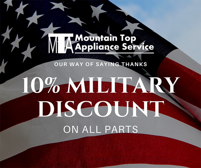 Home 10 military discount resized Mountain Top Appliance